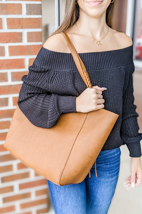 The Betsy Shoulder Tote Bag - Tan