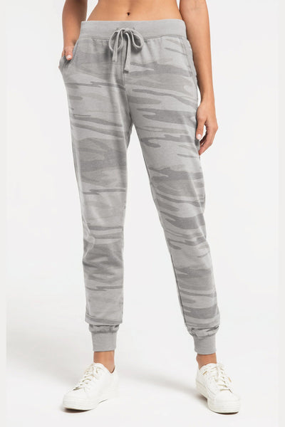 Z Supply: The Camo Jogger Pant - Camo Heather Gray