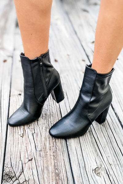 The Dahlia Ankle Bootie - Black