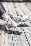 The Dahlia Ankle Bootie - White Snake