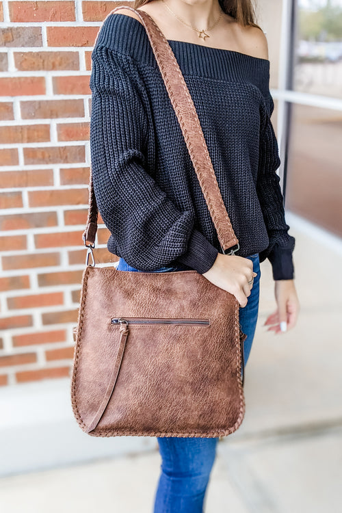 The Harmony Crossbody Bag - Brown