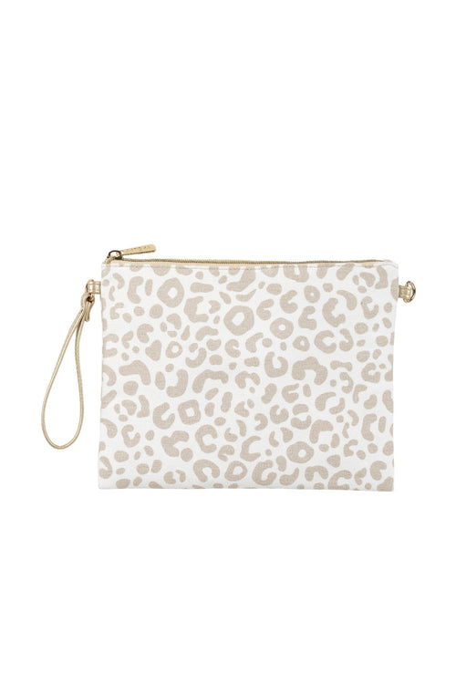 The Hayley Leopard Print Crossbody Bag - Natural