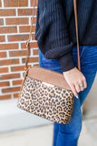 The Lacy Leopard Crossbody - Brown