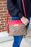 The Lacy Leopard Crossbody - Red