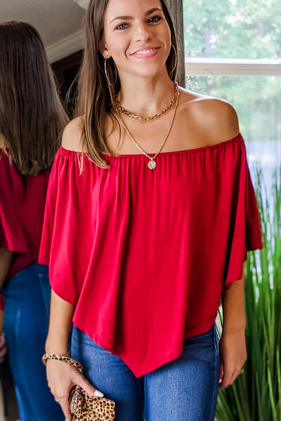 The Perfect Fit Top - Burgundy