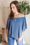 The Perfect Fit Top - Smokey Blue