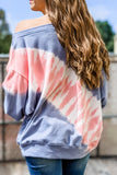 The Sky's the Limit Tie-Dye French Terry Sweatshirt - Pink/Navy