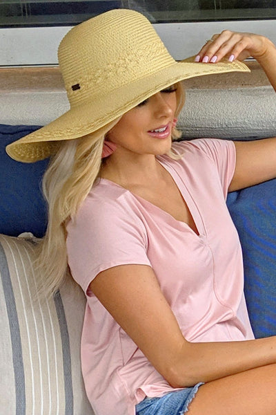 The Carissa Poly Braid Hat - Natural