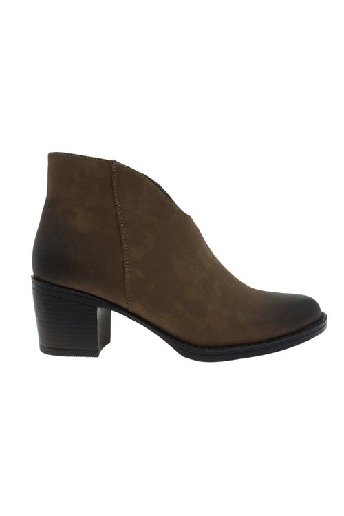 The Faith Suede Booties - Taupe