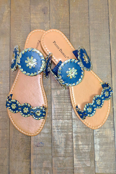 The Idalia Rosetta Sandal - Navy