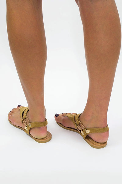 The Jeannie Sandal - New Tan