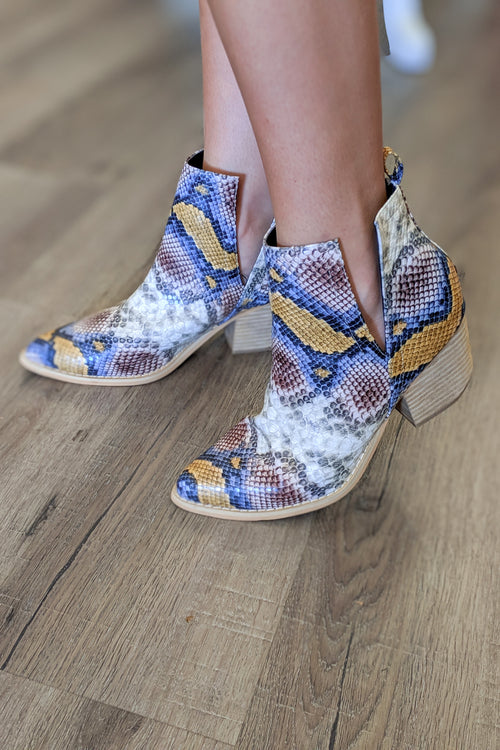 The Jena Split Shaft Ankle Booties - Multi