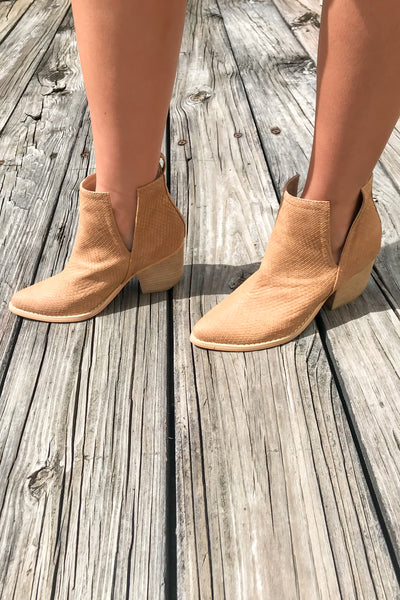 The Jena Split Shaft Ankle Booties - Whiskey