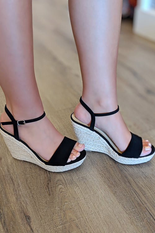 The Marina Wedge - Black