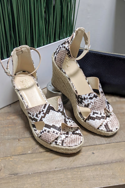 The Stacy Espadrille Wedge - Snake