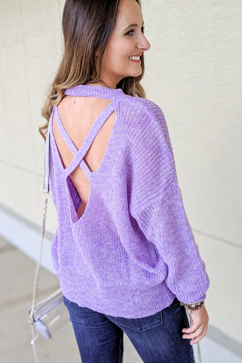 Thinking of You Knit Sweater - Lavender