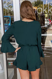 Trust in Me Bell Sleeve Romper - Sea Green