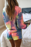Vibrant Daydreams Tie-Dye French Terry Sweatshirt - Pink/Lime