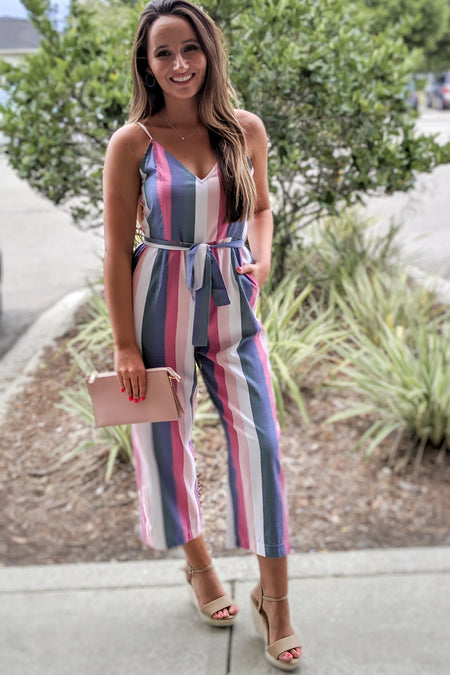 Sunny Stripes Maxi Dress - Black