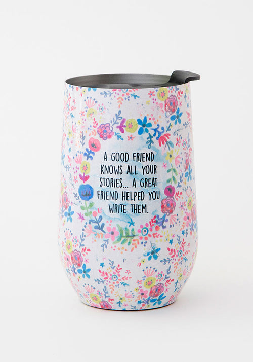A Good Friends Knows Wine Tumbler