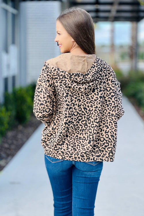 Wild Thoughts Leopard Print Hoodie - Mocha