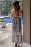 Wild Beauty Geo Print Maxi - Black