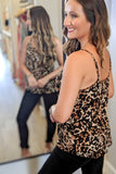 Wild Side of Life Leopard Print Top - Brown