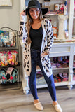 Wild Warmth Leopard Print Cardigan - Taupe