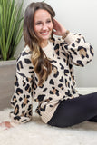 Wildly in Love Leopard Print Sweater - Taupe