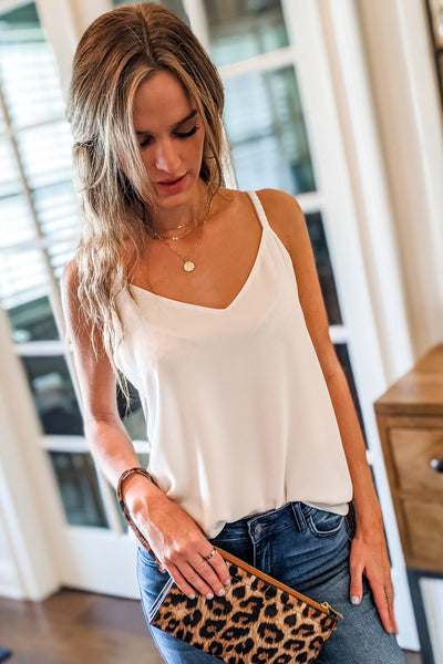 Wine And Dine Tank Top - Off White