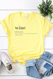 Wine Definition Graphic Tee - Yellow