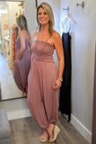 You Deserve it All Jumpsuit - Mauve