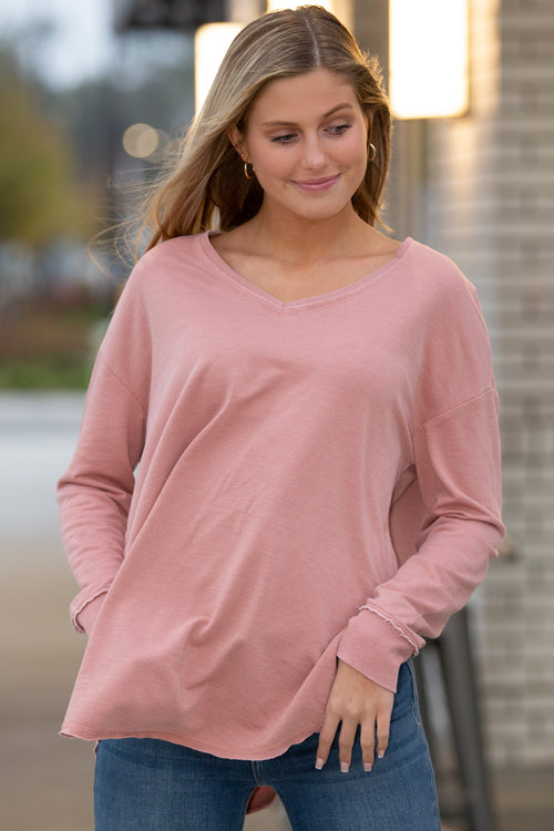 Z Supply: V-Neck Weekender - Wild Rose