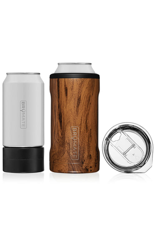 BruMate: Hopsulator Trio 3-in-1 | Walnut (16oz/12oz Cans)