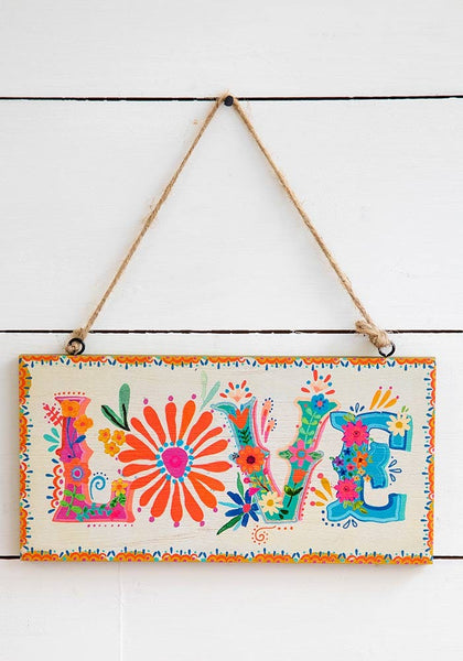 Love Wooden Wall Hanging - Natural Life