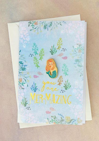 Mermazing Mermaid Enamel Pin Card