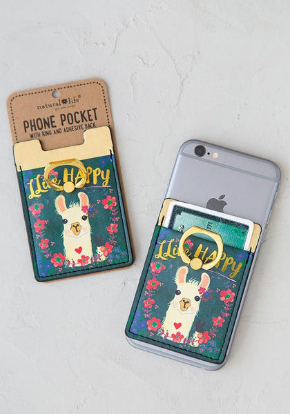 Llive Happy Phone Pocket Ring - Natural Life