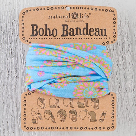 Purple Grey Spandex Boho Bandeau