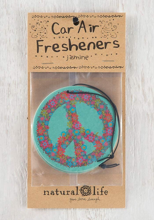 Natural Life Blue Peace Sign Air Freshener