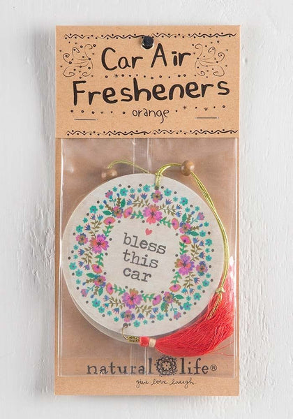 Bless This Car Air Freshener - Natural Life