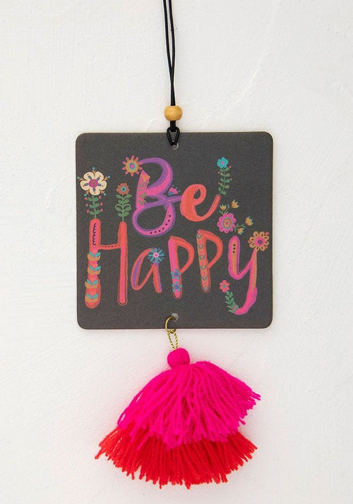 Be Happy Square Air Freshener - Natural Life