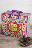 Make A Difference Jumbo Zip Tote - Natural Life