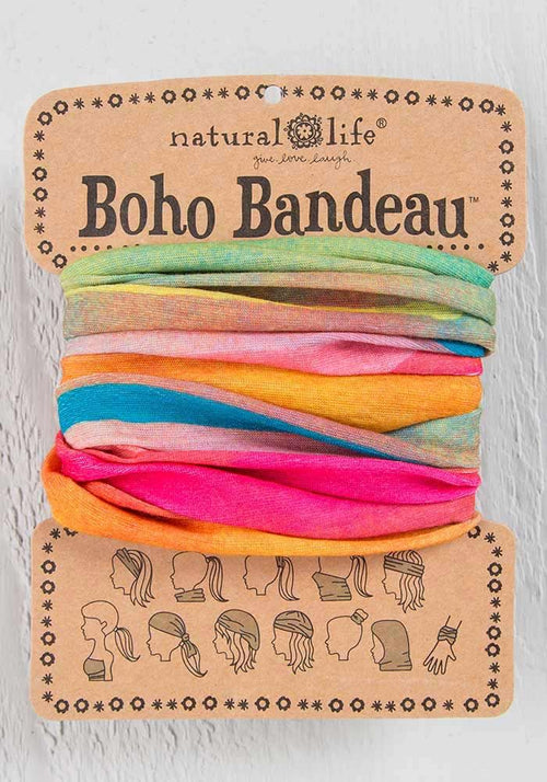 Natural Life Hot Pink Rainbow Boho Bandeau
