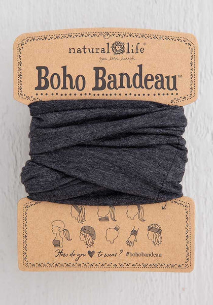 Heathered Charcoal Boho Bandeau - Natural Life