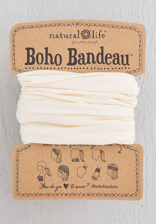Natural Life Cream Solid Boho Bandeau