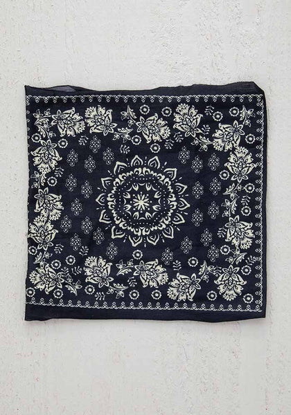Black Cream Mandala Half Boho Bandeau - Natural Life