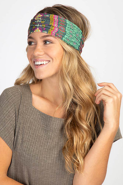 Green Stripe Print Boho Bandeau - Natural Life