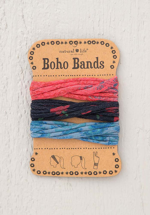 Natural Life Red Blue Black Boho Bands