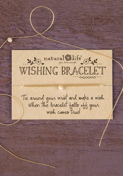 Cream Wishing Bracelet - Natural Life