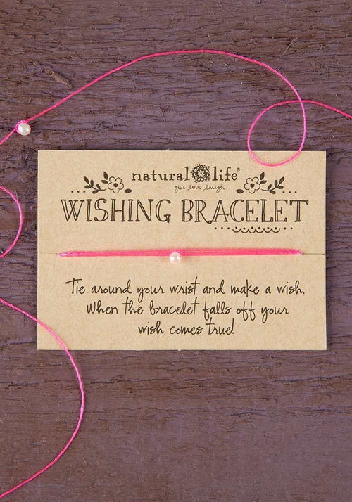 Pink Wishing Bracelet - Natural Life